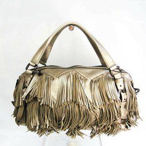 Burberry Women's Leather Handbag Gold BF532109
